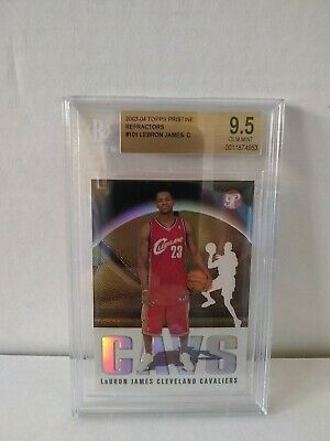 2003-04 Topps Pristine Gold Refractors #101 LeBron James Rookie BGS 9.5 Gem Mint