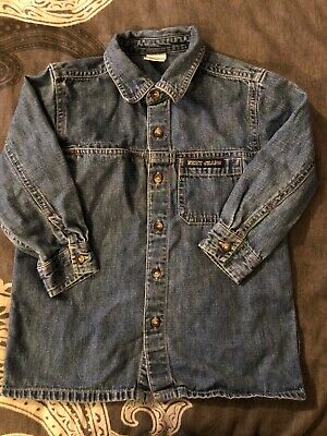 Boys Next Denim Shirt Age 2 Years Blue Long Sleeve