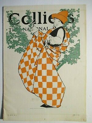 """maxfield parrish colliers magazine"""" the april fool"""" april 1, 1911 complete mag"""