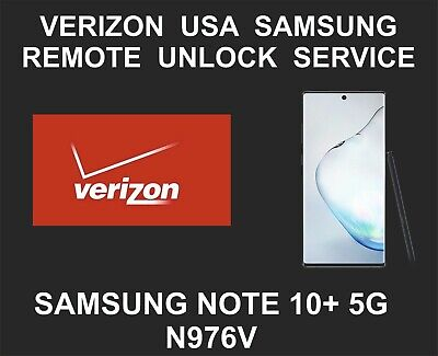 Verizon Remote Network Unlock Service, Samsung Note 10+ 5G, N976V