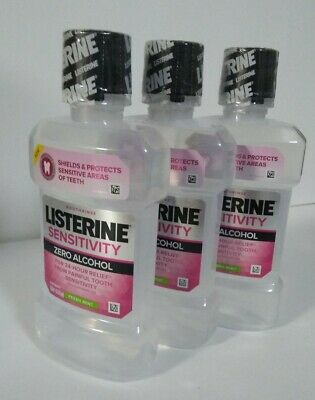 3pk Listerine 24hr Tooth Sensitivity Relief Protection Mouthwash Mint 8.5oz each