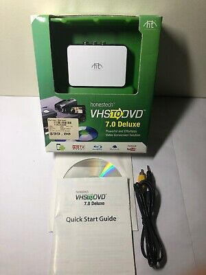 Honestech VHS to DVD 7.0 Deluxe Video Conversion + CD Manual 🇦🇺 Free Postage