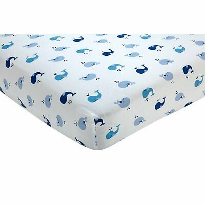 Nautica Kids Brody  Baby Fitted Crib Sheet - Whales