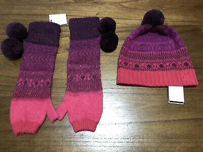 Authentic Burberry Girls Hat And Gloves Set