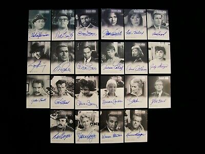 Twilight Zone - Lot of 22 Different Autograph Trading Cards from 2000 to 2005