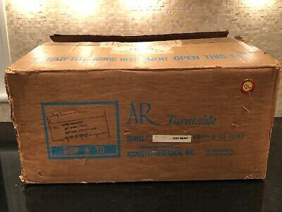 NOS Boxed Acoustic Research AR Turntable XA-171477 Walnut Base Perfect Condition