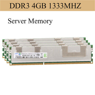 For Samsung 32GB 8X4GB PC3-10600R DDR3 1333MHz DDR3 240pin ECC Server Memory RHN
