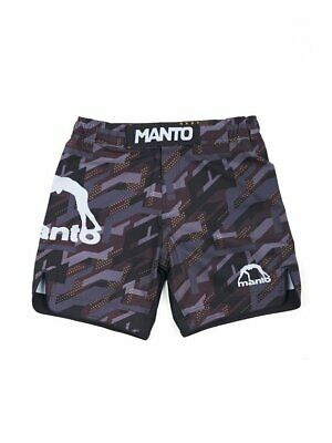 Manto Stripe Fight Shorts Black White No-Gi Jiu Jitsu Grappling Training Gym