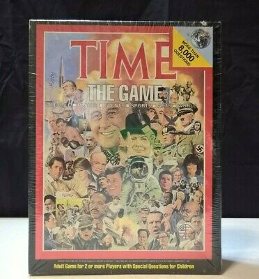 TIME (magazine) The Game 1983 vintage trivia board game factory sealed