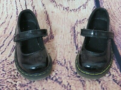 Girls Dr Martens Mary Jane Tully Black Patent Leather Shoes Toddler Size 6