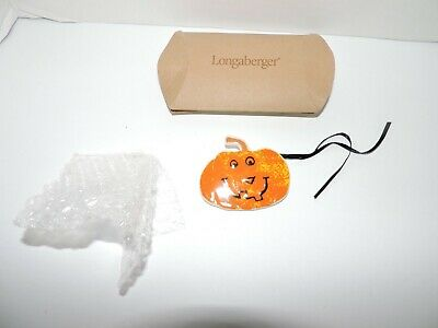 Longaberger 2004 Large Happy Halloween Pumpkin Tie-On//Pin #28575 NEW