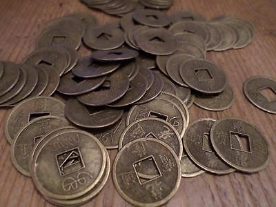 40 X FENG SHUI LUCKY CHINESE COINS FOR WEALTH & GOOD LUCK. 2.4cm in diameter