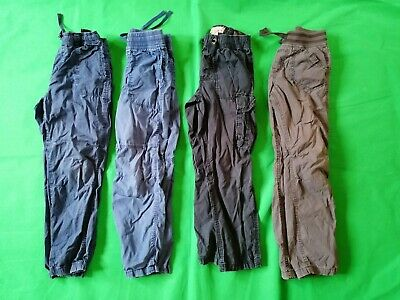 Bundle 4 X pairs Boys Casual Trousers Shades Of Blue 7 - 8 Years h & m l.o.g.g