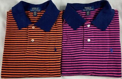 GENUINE Polo by Ralph Lauren Boys 18 /20 - Mens Medium -  Striped Polo Shirt