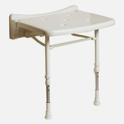 AKW 2000 Series Fold Up Shower Seat with Blue Padded Seat