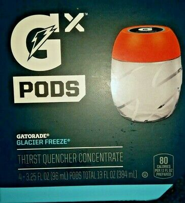 Gatorade GX Pods Glacier Freeze One Pack Of 4 Pods IN HAND!! - SHIPS ASAP!!