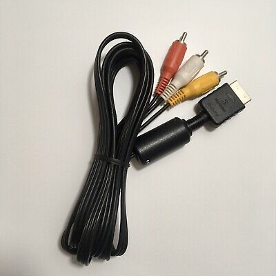 Official Sony PlayStation 3 2 1 PS1 PS2 PS3 AV TV Cable Lead Genuine