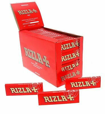 100 Rizla Red Cigarette Rolling Papers Standard Regular Original