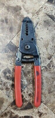 NICE Mac Tools TCT15E Red Handle Wire Strippers & Cutters Pliers Made in USA