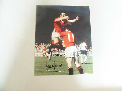 10 x 8  hand signed LOU MACARI    - MAN.UTD - AFTAL   - undedicated