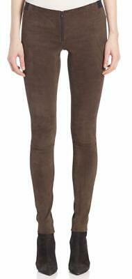 ALICE + OLIVIA Lamb Leather Suede Womens Pants Leggings Brown Size 6