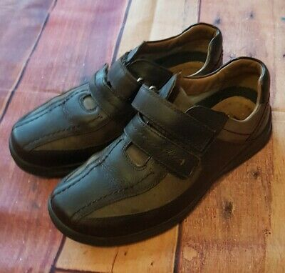 Mens Hotter Comfort Concept Shoes Size 7.5 Brown Leather And Suede Duel Fit