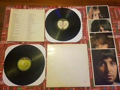 The Beatles White Album Apple lp record 1968 poster pictures low #0130093
