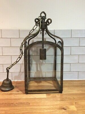 Jim Lawrence Hall Lantern Antiqued Brass excellent condition