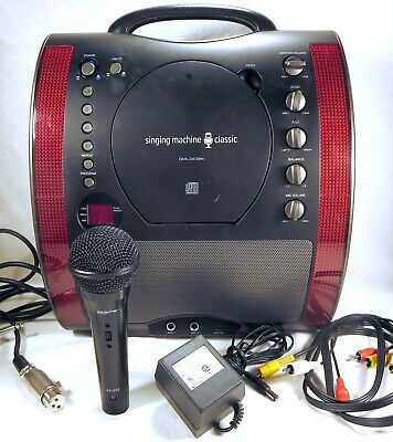 KARAOKE SINGING MACHINE CLASSIC SML-343-BK Audio Spectrum Mic AS-400 Accessories