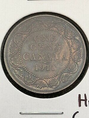 Canada Large cent 1911 Trace Of Red