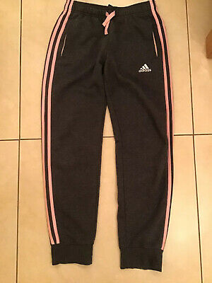 Adidas Girls Grey Joggers Age 13-14 Very Good Condition