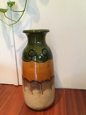 Large Fat Lava Scheurich West Germany Vintage Retro Floor Vase 60's/70's
