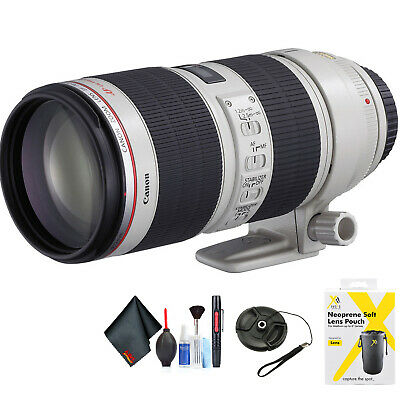 Canon EF 70-200mm f/4L is II USM Lens for Canon EF Mount + Accessories (Intl Mod