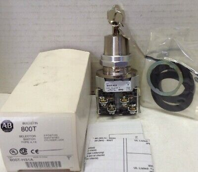 Allen-Bradley 800T-H31A Series T 2-Pos. Selector Switch, Maintained, Cylinder Lo