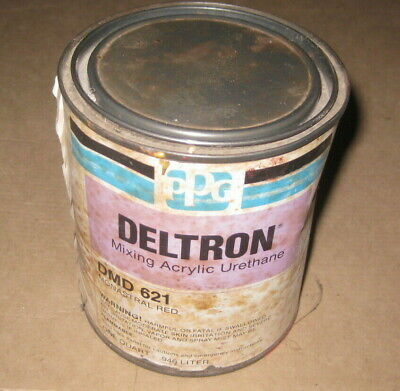 PPG Deltron Acrylic Urethane Paint Toner Mixing Base DMD 621 Monstral Red 1Qt