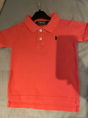 Boys Ralph Lauren Polo Shirt Age 4 In Pink