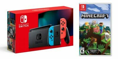 Nintendo Switch Console Blue Red Brand New Unused + Minecraft Purchased 19/02/20