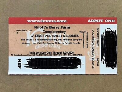 SIX 6 Knott's Berry Farm Admission Tickets - Valid ONE DAY ONLY Through 6/30/20