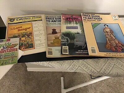 Lot of 6-1985 1989 The Antique Trader Magazine  Price Guide To Antiques + More