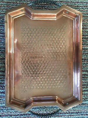Copper arts and craft style tray