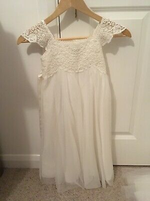 Age 5yr flower girl dresses ivory Monsoon. Worn Once. EUC.Also Age 2-3 Available