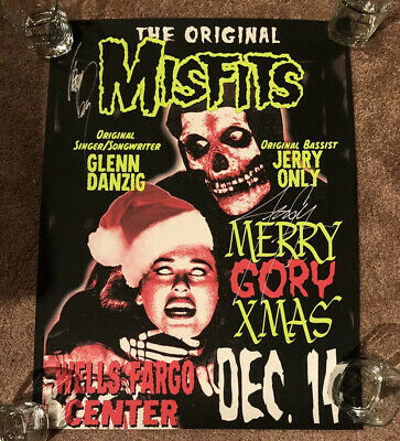 Misfits Signed Danzig Jerry Only Poster Philadelphia Rare 12/14 #21/1000