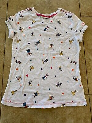 Disney Parks Minnie Mouse&Friends Polka Dot Adult Tee For Women Small Nwt