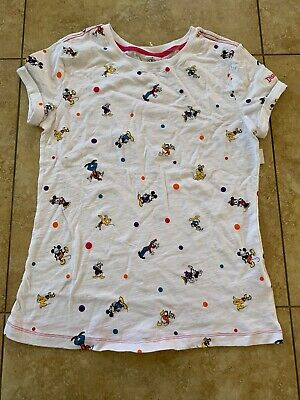 Disney Parks Minnie Mouse&Friends Polka Dot Adult Tee For Women Medium Nwt