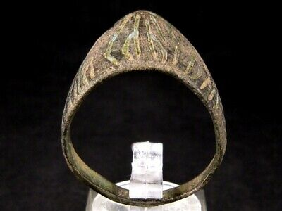 Extremely Rare Roman Archer's Ring, Decoration, As Found+++