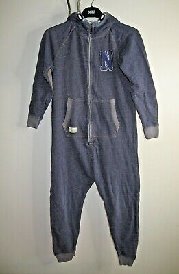 Next Boys Cotton Denim Effect Onesie Onesy (Not Gerber) 11Yrs Excellent