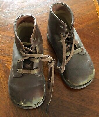 Vintage SIMPLEX FLEXIE Childs Leather Boots for Large Doll? 1940s Stamped