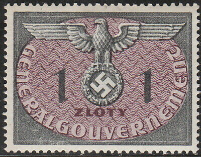 Stamp Germany Poland General Gov't Official Mi 13 Sc NO13 1940 WW2 War MNG