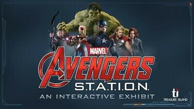 Marvel Avengers S.T.A.T.I.O.N. Interactive Exhibit LAS VEGAS (4) Tickets +...