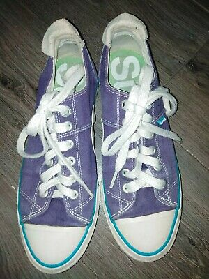 SUPERDRY Purple  Pumps sneakers trainers shoes size 5 fast post